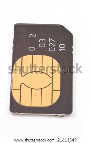 Sim card isolated on white background