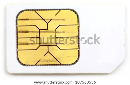 Sim card of a mobile phone - stock photo