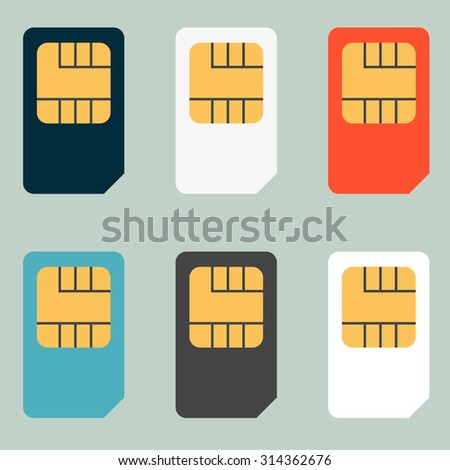 SIM cards for mobile phones. Mobile and wireless communication technologies. Network chip electronic connection - stock photo