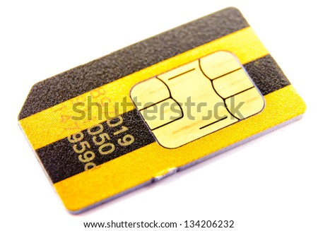 SIM cards. Photo Close-up - stock photo