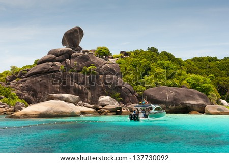 Similan island - stock photo
