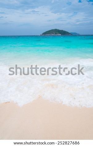 Similan Island in Similans national park, Thailand - stock photo