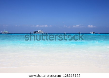 Similan Islands is a beautiful tourist attraction in Andaman sea, Thailand Scuba diving is for those who like adventure