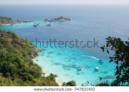 Similan islands landscape