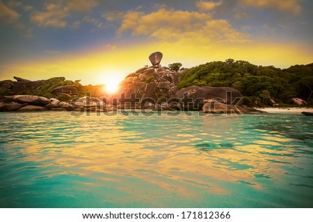 Similan islands, Thailand, Phuket. - stock photo