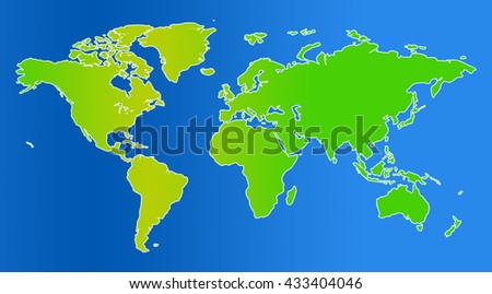 Similar world map blank for infographic - stock photo