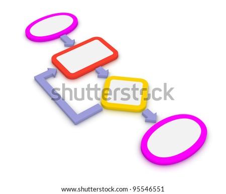 Simple algorithm - stock photo