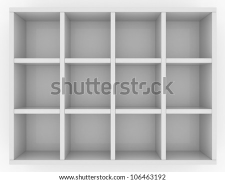 Simple box for mailing letters with sixteen cells isolated on white