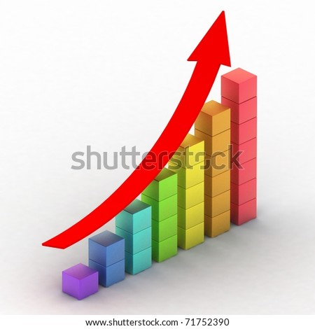 simple business chart - stock photo