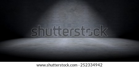 Simple cement floor background and spot light - stock photo