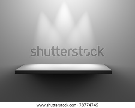 Simple 3D Isolated shelf - stock photo