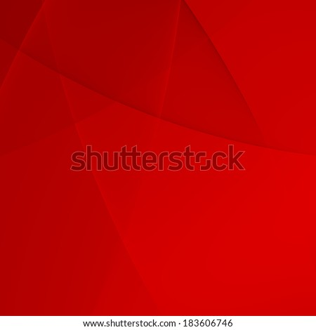 Simple Elegant Abstract Red Presentation Background - Curves - stock photo