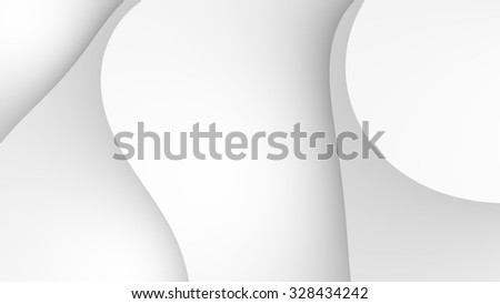Simple fractal background with abstract white shapes