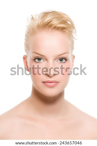Simple front view of a model. - stock photo