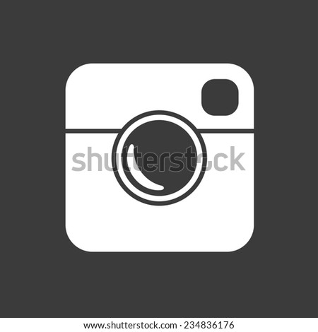 Simple Hipster Photo Icon. Raster version - stock photo