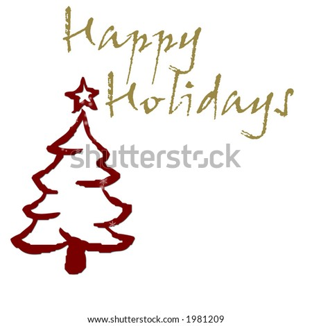 Simple Holiday Greeting - stock photo