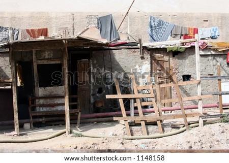 Simple living, Egypt - stock photo