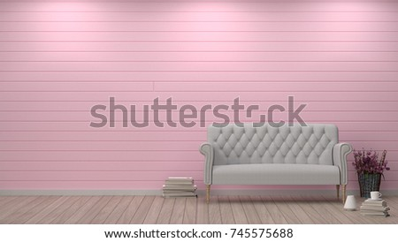 Simple Living Room Sofa Front Pink Stock Illustration 745575688 ...