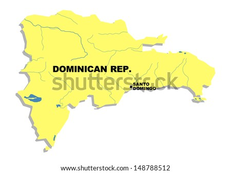 Simple map of Dominican Republic