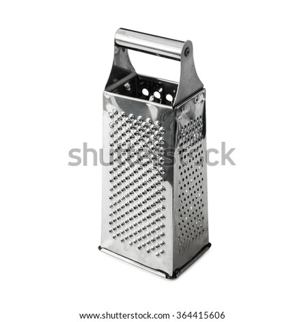 simple metal grater isolatedon white background