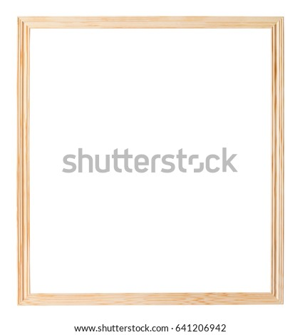 Simple Narrow Unpainted Wooden Picture Frame Stock Photo (Edit Now ...