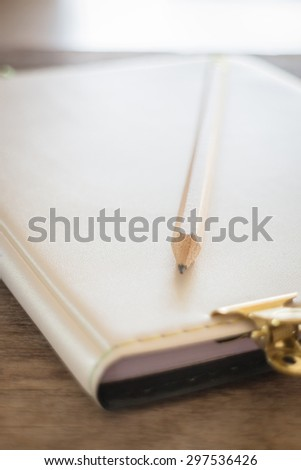 Simple office desk with necessary tool, stock photo
