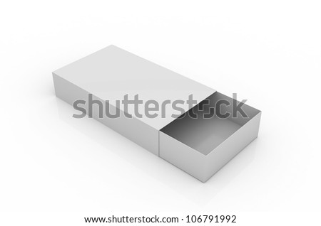 Simple open box on white - stock photo