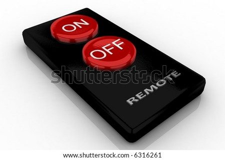 simple remote isolated on white - stock photo