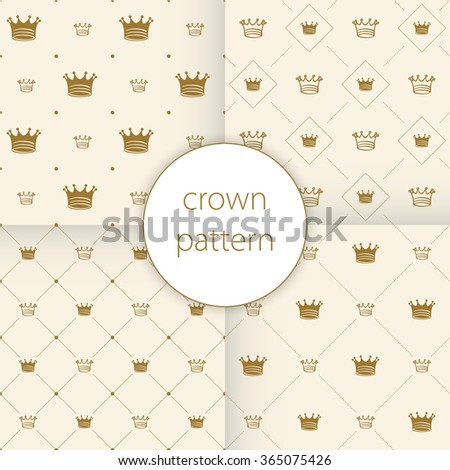 Simple seamless pattern with crown art