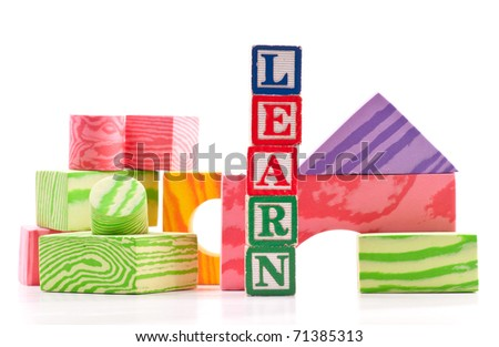 Simple Shapes and Color Education Concept - stock photo
