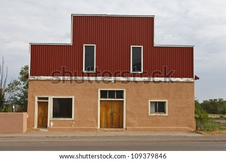 Simple storefront in a small-town in the state of New Mexico, USA.