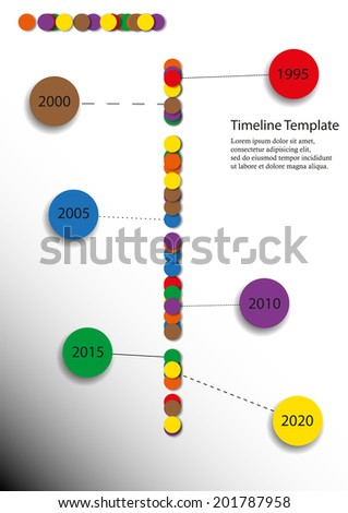 Simple Timeline Rounded Elements Simple Symbols Stock Illustration