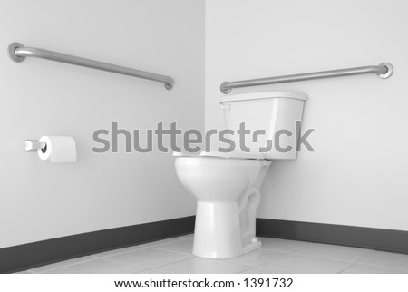 Simple Toilet U0026 Bathroom With ADA Grab Bars