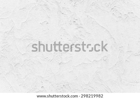 Simple white concrete painted wall background and texture - stock photo