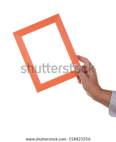 Simple wooden Frame in hands