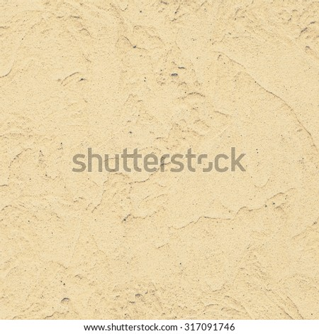 Simple yellow concrete painted wall background and texture - stock photo
