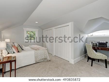 Black dress 40s style interior closet door
