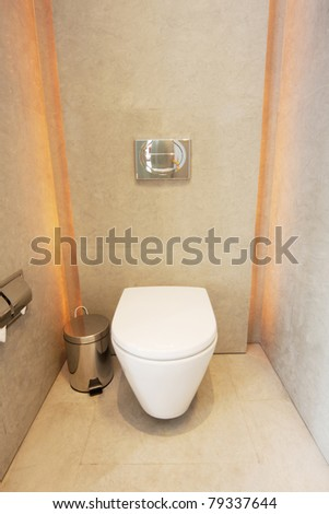 simply modern style toilet room - stock photo
