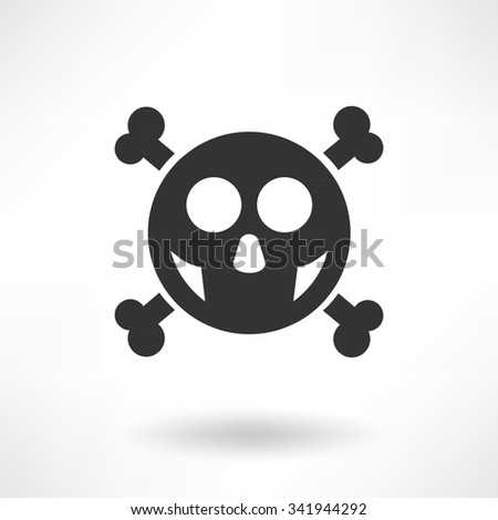 Simply Skull Illustration and Shadow