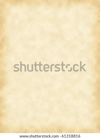 Simulated blank parchment texture paper surface for text or graphic - stock photo