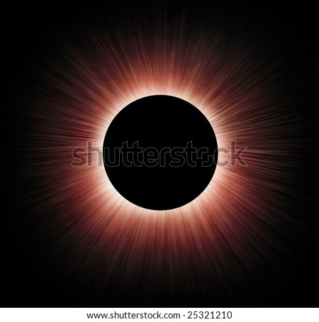 Simulation of total solar eclipse