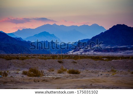 Sinai mountains at sunset - Egypt