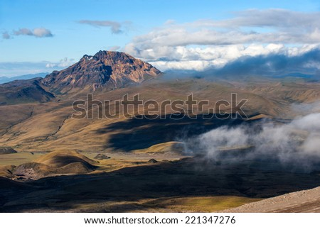 Sinchulagua Volcano,  Andean Highlands of Ecuador, South America - stock photo