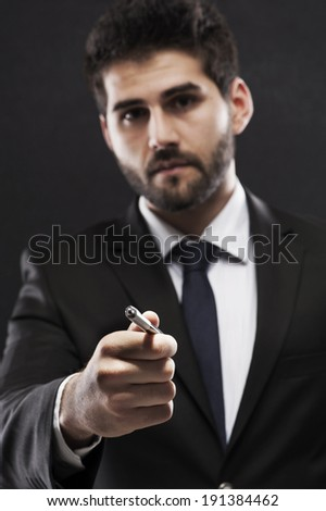Sing up please  - stock photo