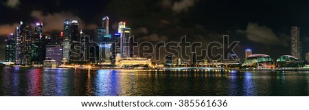 Singapore at night, Asia