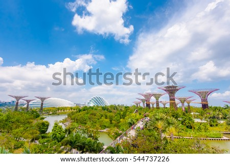 "Garden By The Bay Meadow ""supertree_grove"" stock images, royalty-free images"