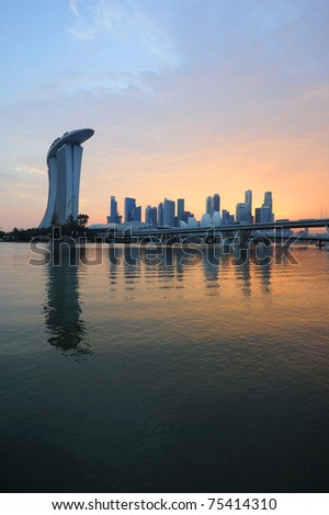Singapore Business District skyline. - stock photo