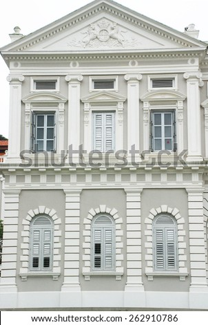 Singapore City, Singapore - December 14, 2008: The National Museum of Singapore is a oldest museum focusing on exhibits related to the history of Singapore. - stock photo