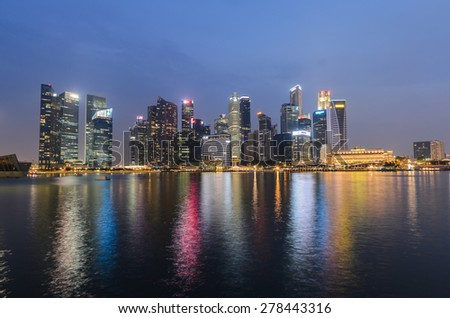 Singapore City, Singapore - OCT 4, 2014: Building Business in the Singapore.