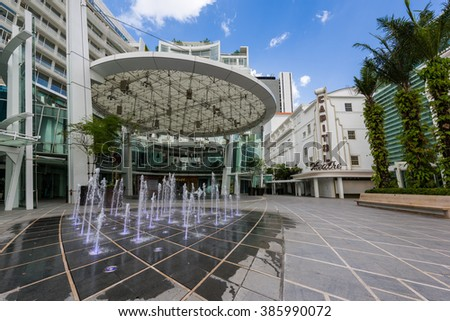 Singapore, 26 Feb 2016: Formerly a popular cinema, the Capitol Building is now renovated into an upbeat shopping centre. - stock photo